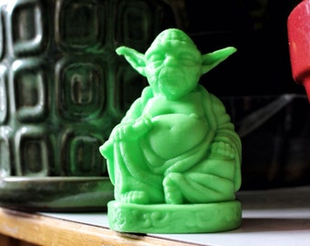 Yoda Buddha, Star Wars Buddha,  July 4th, Lightsaber, Master Yoda, Home Decor, Zen Yoda, Zen, buddha, laughing buddha