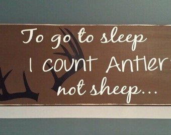 I Count Antlers Nursery Decor