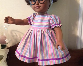 12dS18 Simply Stripes drrss w/headband & shoes