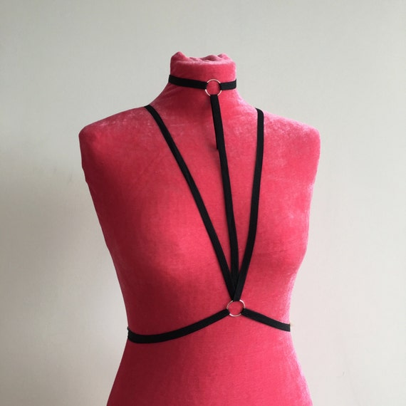 Black Body Harness Underwear Lingerie Bondage By Onlyloveapparel-2754