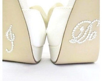 Rhinestone I do Wedding shoe decal, wedding shoe sticker, custom shoe decal, mrs wedding shoe sticker