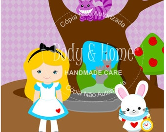 Alice Wonderland Digital Clipart