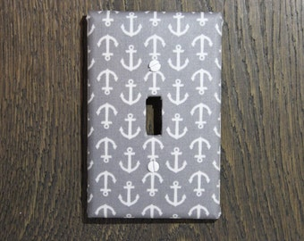 Light Switch Plate/ Nautical/Anchor/Home Decor/Shabby Chic