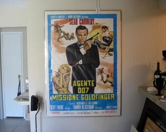 """Goldfinger - James Bond 007 Original (1964) Italian 39"""" x 55"""""""