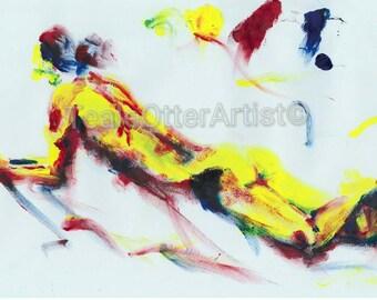 Acrylic painting Artist print No.41