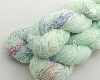 Garden on Shoal, 75 Merino 25 Nylon, fingering weight yarn handdyed indie