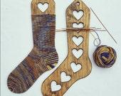Chaussettes en bois bloqueurs, formes en bois chaussettes, chaussettes à la main bloqueurs, chaussette civières, les formes de chaussette en bois, à la main tricot chaussettes