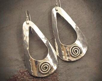 """Windows - Sterling Silver """"swirl"""" earrings"""