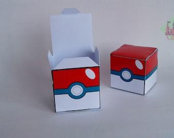 Printable Pokemon Pokeball Box - Birthday Party