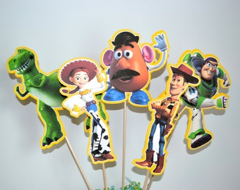 Disney Toy Story Set of 5 Centerpiece Picks (Double-Sided)
