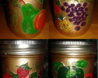 Hand Painted Jelly Jar (8oz.)