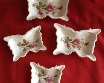 Royal Rose Bone China Butterfly Set of Four