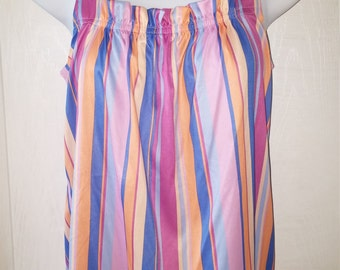 vintage 80's Multi-color sleeveless striped Top M