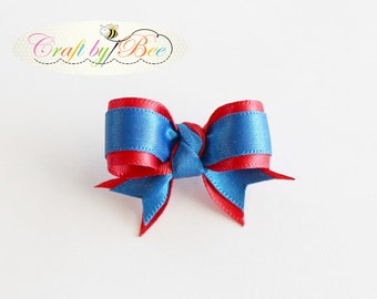 Dog Bow Blue & Red