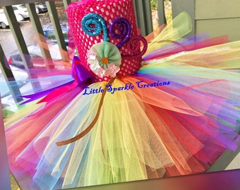 Candy Costume, candyland tutu dress, candy Birthday Outfit girl , candyland Birthday Outfit