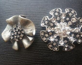 Floral pins/ costume jewlery