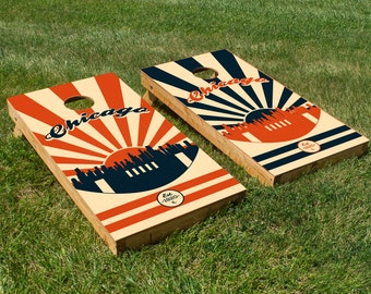 Chicago Football Cornhole Board Set