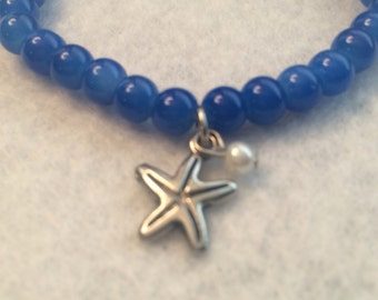 Starfish Bracelet in Vibrant Blue