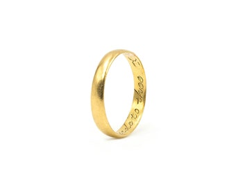 Antique Gold Posey Ring