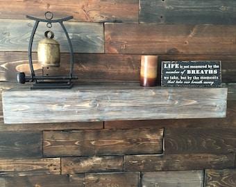 "Floating Shelves, Rustic Floating Shelf, Reclaimed wood shelf, shelves, 36"", shelving, wall art, bookcase, book shelf, picture shelf"