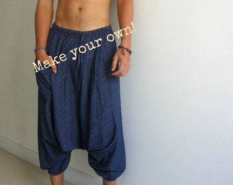 Harem pants pattern etsy for Harem pants template