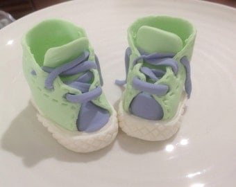Baby Sneakers Cake Topper