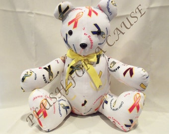 Cancer Awareness Bear ~ Stuffed with Love by Plush For A Cause