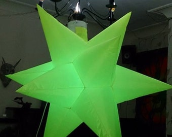 1 x medium 110cm [approx.] width 12 point star, lots of colours MADE TO ORDER