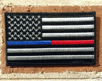 Blue / Red Line US Flag- Morale/Tactical Patch