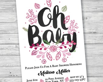 OH BABY Baby Shower Invitation