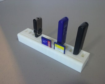 USB Flash Drive SD Card Desk Organizer / Office Organization / 3D Printed