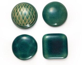 Ceramic Cabochons Set 001 BC Crackle 4 pieces