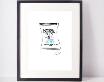 Kettle Chips illustration