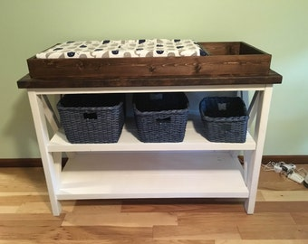 Baby Changing Table - Rustic X