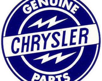 Genuine Chrysler Parts Decal