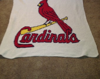 St. Louis Cardinals Crochet afghan