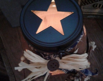 Rustic jar lantern