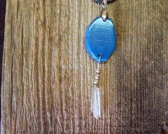 BLUE AGATE with CHRYSTAL