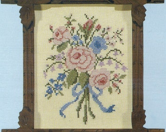 Victorian Bouquet Stamped Sampler Kit by Country Stitches