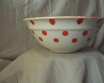 Red Dots Bowl