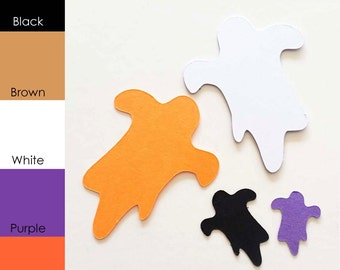 25 pack - Paper Shape Ghosts, Halloween Paper Ghosts, Paper Ghost Shapes, Ghost Shape Tags