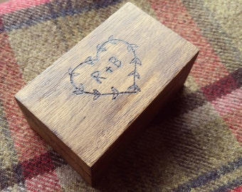 Small Pyrography Trinket Box