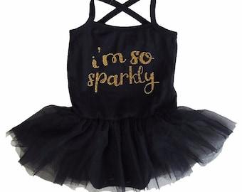 Sparkle Baby Girl-Baby Girl Black Tutu-I'm So Sparkly Tutu