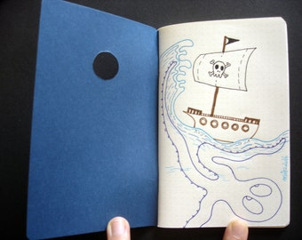 "Notebook A6 ""Pirates"" - original illustration"