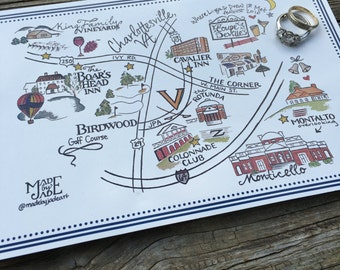 Custom Hand Drawn Wedding Map