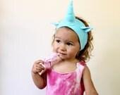 Unicorn Headband, hand dyed robins egg blue, insta-unicorn, unicorn costume, baby costume, baby headband, unicorn dress up, unicorn party