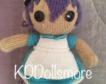 Hand Knit Custom Len Doll