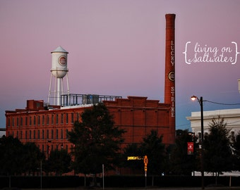 Downtown Durham, NC Skyline Photography - Lucky Strike - Multiple Sizes Available