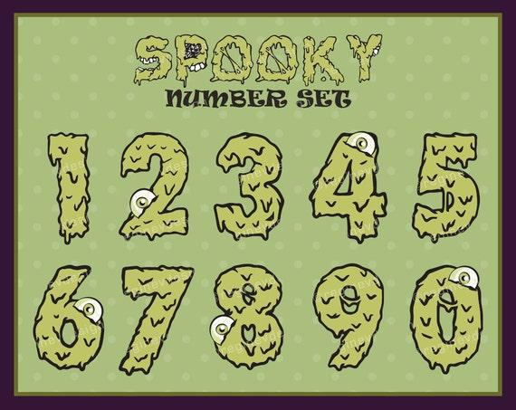 Halloween Number Clipart Set Number Clipart Set Number