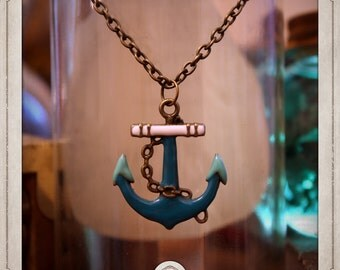 ANCHOR nautical COP013 bronze pirate necklace